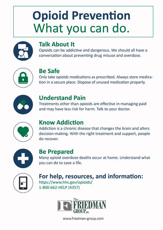 Opioid prevention | Friedman Group