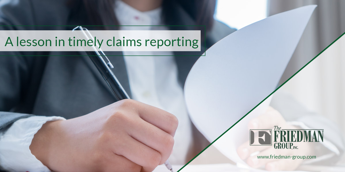Timely Claims Reporting