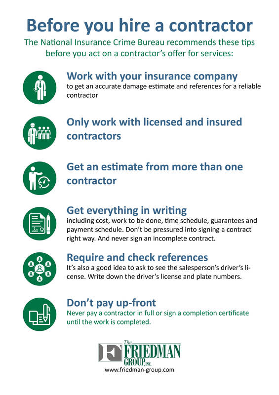 tips for hiring a contractor | Friedman Group